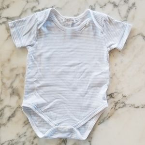 Blue/White Short Sleeve Onesies, Size 6-9Months